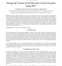 pdf design control of an elevator control system using plc [ 850 x 1202 Pixel ]