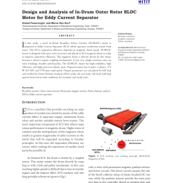 pdf design and analysis of in drum outer rotor bldc motor for eddy current separator [ 850 x 1200 Pixel ]