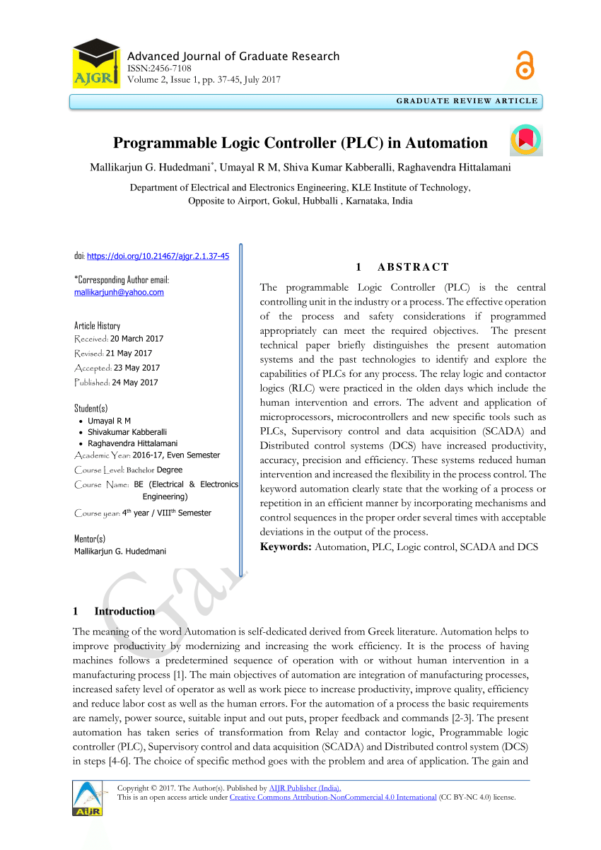 medium resolution of  pdf programmable logic controller plc in automation