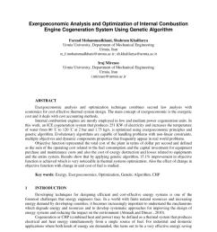 pdf exergoeconomic analysis and optimization of internal combustion engine cogeneration system using genetic algorithm [ 850 x 1100 Pixel ]