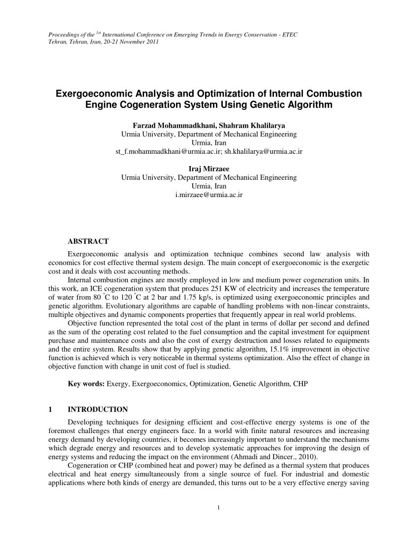medium resolution of  pdf exergoeconomic analysis and optimization of internal combustion engine cogeneration system using genetic algorithm