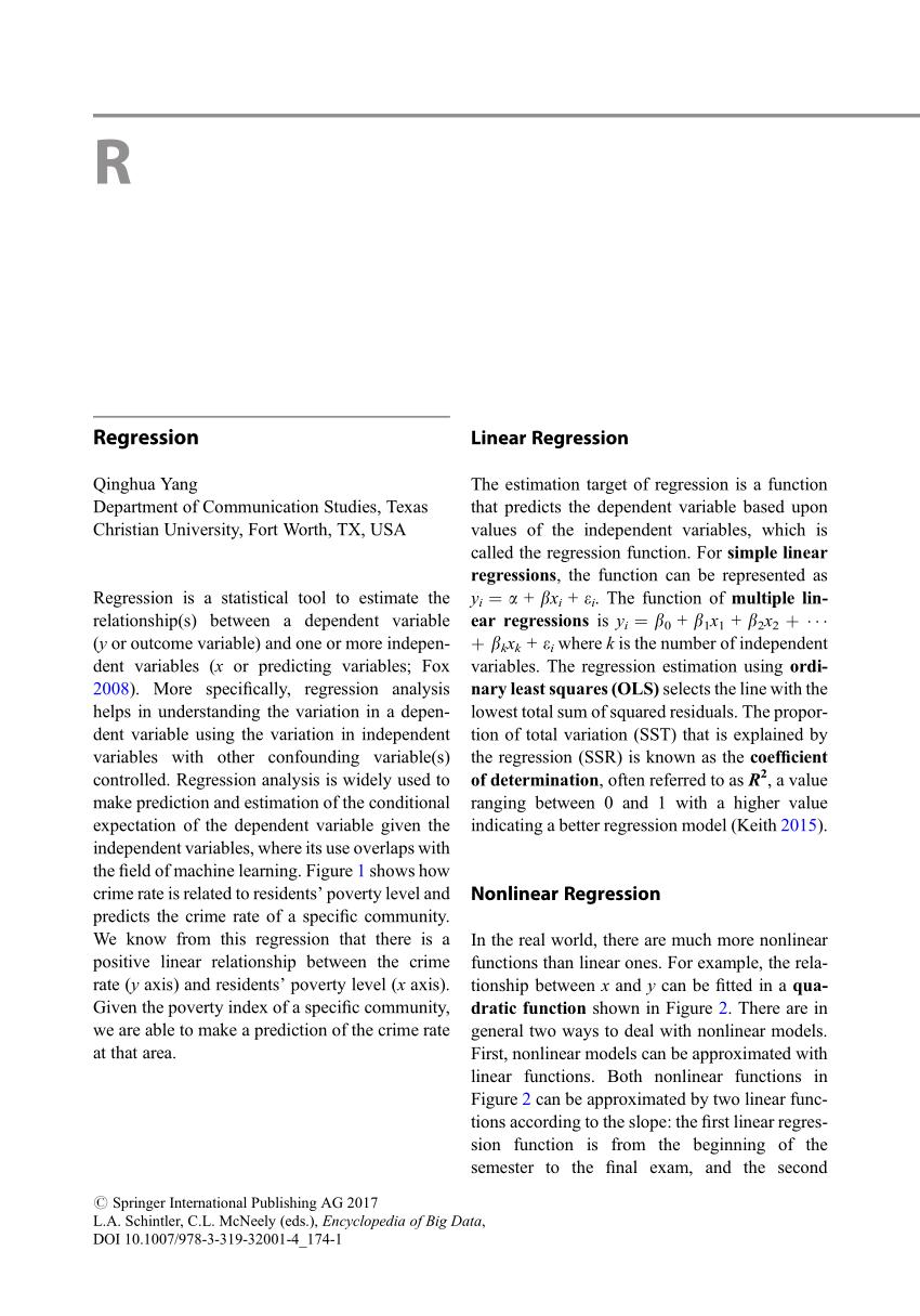 (PDF) Regression