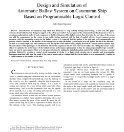 pdf design and simulation of automatic ballast system on catamaran ship based on programmable logic control [ 850 x 1100 Pixel ]