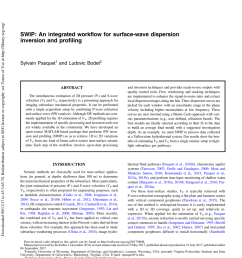 pdf 2d characterization of near surface vp vs surface wave dispersion inversion versus refraction tomography [ 850 x 1121 Pixel ]