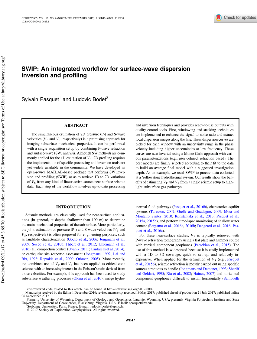 hight resolution of  pdf 2d characterization of near surface vp vs surface wave dispersion inversion versus refraction tomography