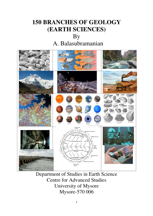small resolution of PDF) 150 BRANCHES OF GEOLOGY(EARTH SCIENCES)