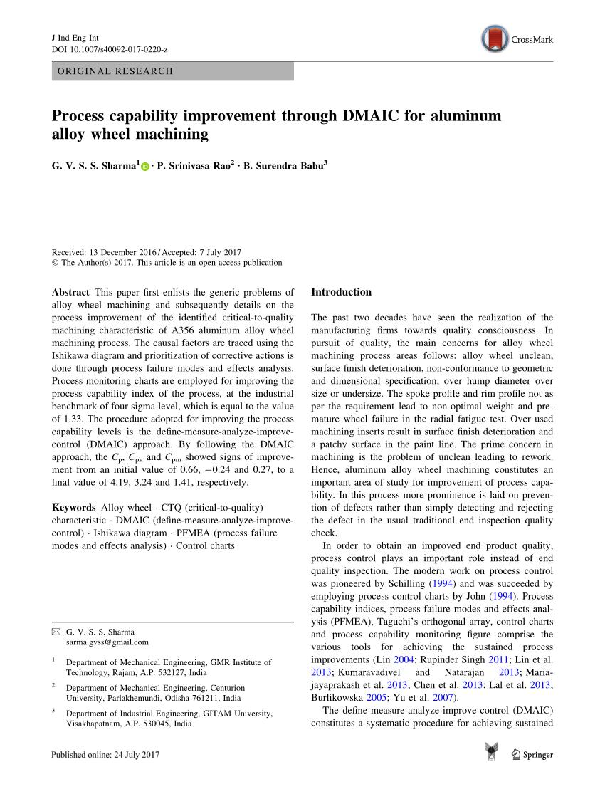 medium resolution of  pdf a dmaic approach for process capability improvement an engine crankshaft manufacturing process