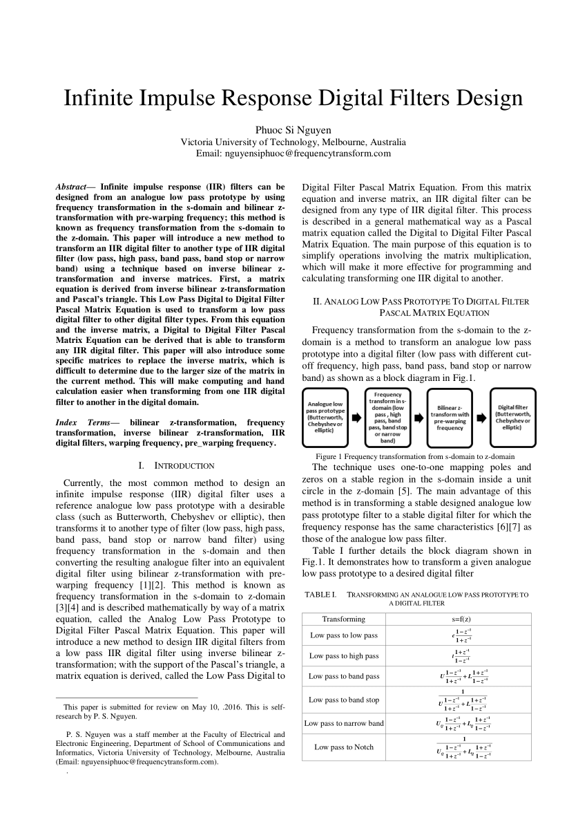 medium resolution of  pdf bilinear z transformation and pascal s triangle
