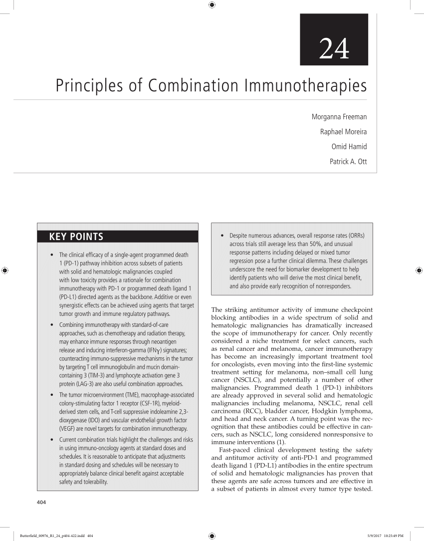 (PDF) Principles of Combination Immunotherapies