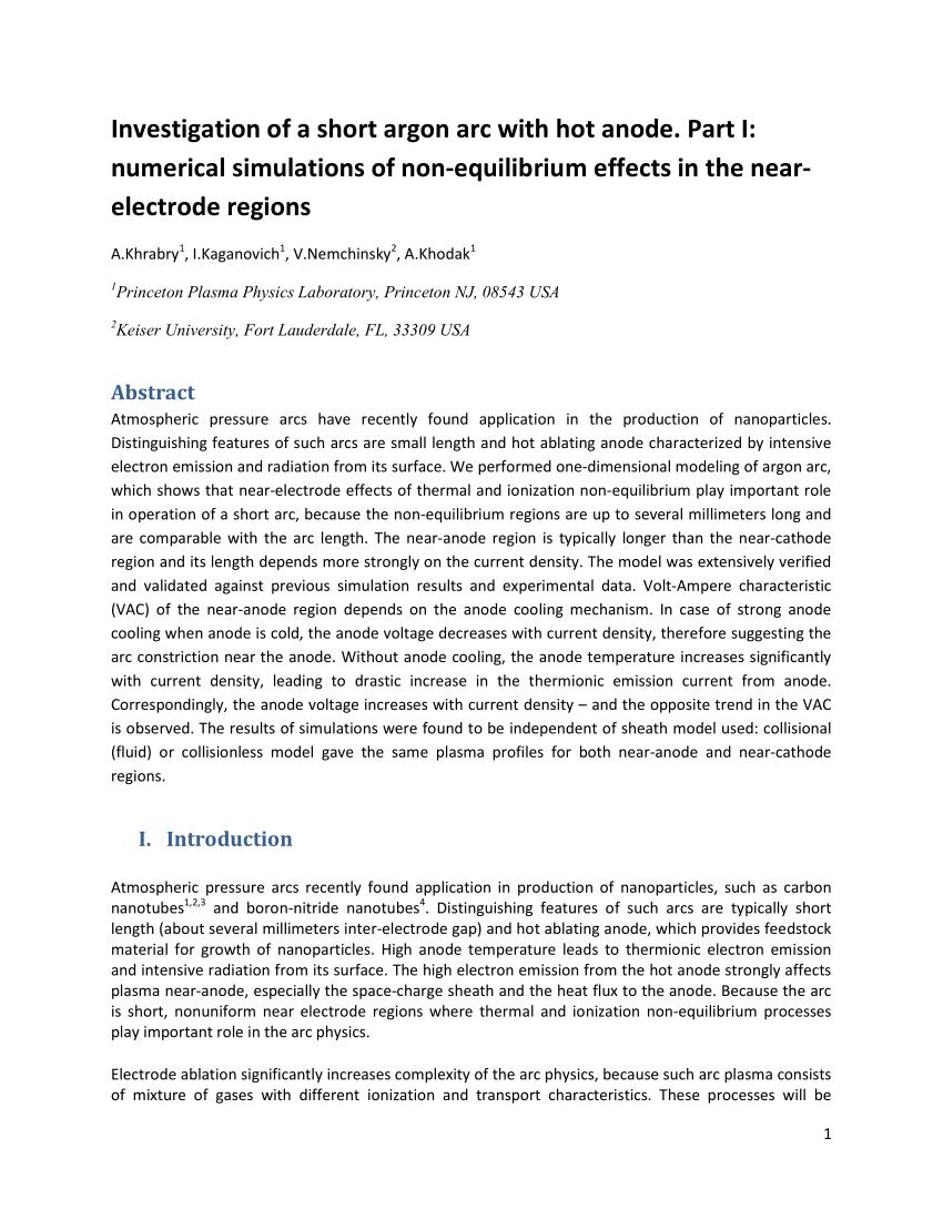 medium resolution of  pdf non equilibrium modeling of transferred arcs