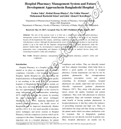 pdf hospital pharmacy management system and future development approaches in bangladeshi hospital [ 850 x 1100 Pixel ]