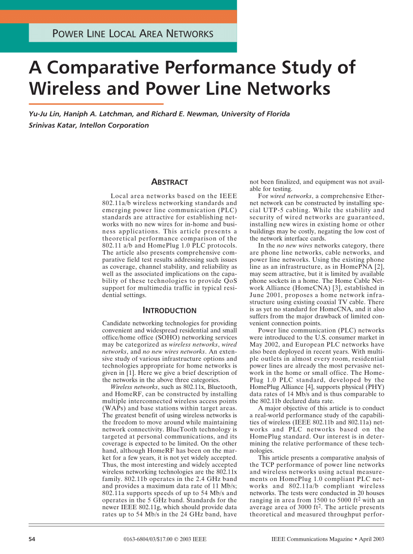 medium resolution of  pdf a comparative performance study of wireless and power line networks