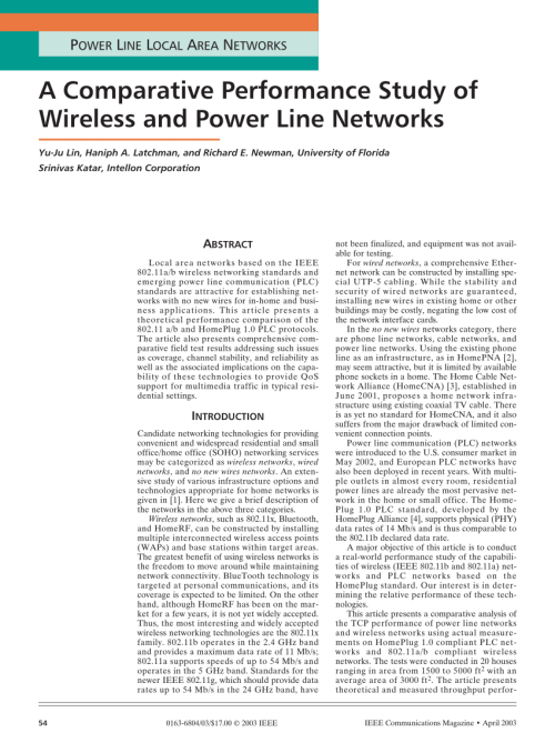 small resolution of  pdf a comparative performance study of wireless and power line networks