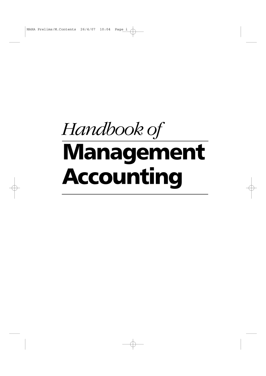 (PDF) Handbook of Management Accounting (4th edition)