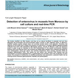 pdf evaluation of hepatitis a virus contamination in environmental water and shellfish samples of casablanca region morocco  [ 850 x 1100 Pixel ]