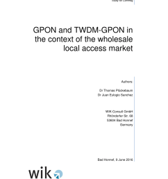 pdf gpon and twdm gpon in the context of the wholesale local access market [ 850 x 1203 Pixel ]