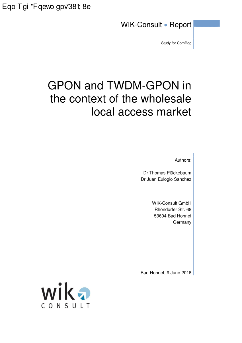 medium resolution of  pdf gpon and twdm gpon in the context of the wholesale local access market