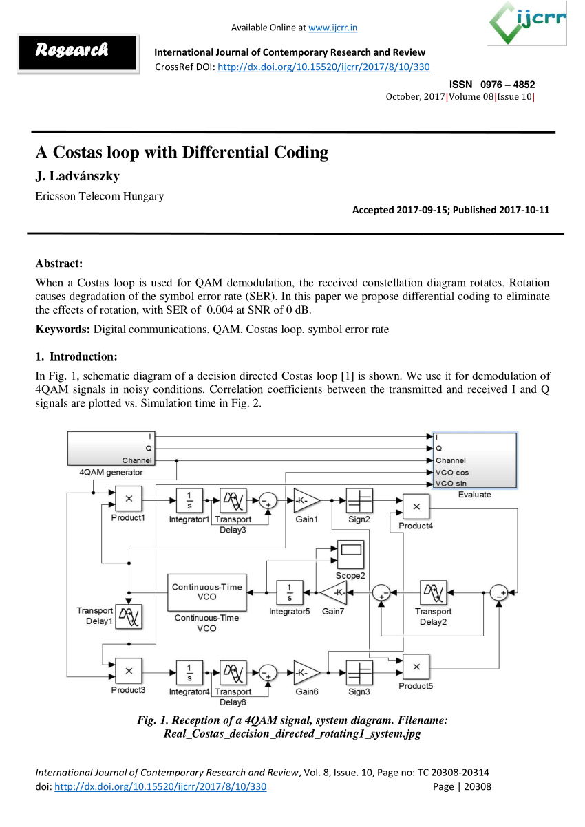 constellation diagram in digital communication fulham emergency ballast wiring pdf a costas loop with differential coding