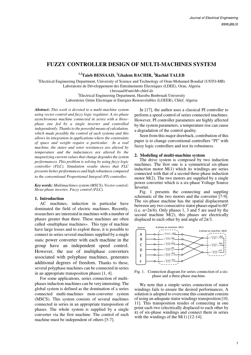 hight resolution of  pdf even phase multi motor vector controlled drive with single inverter supply and series connection of stator windings