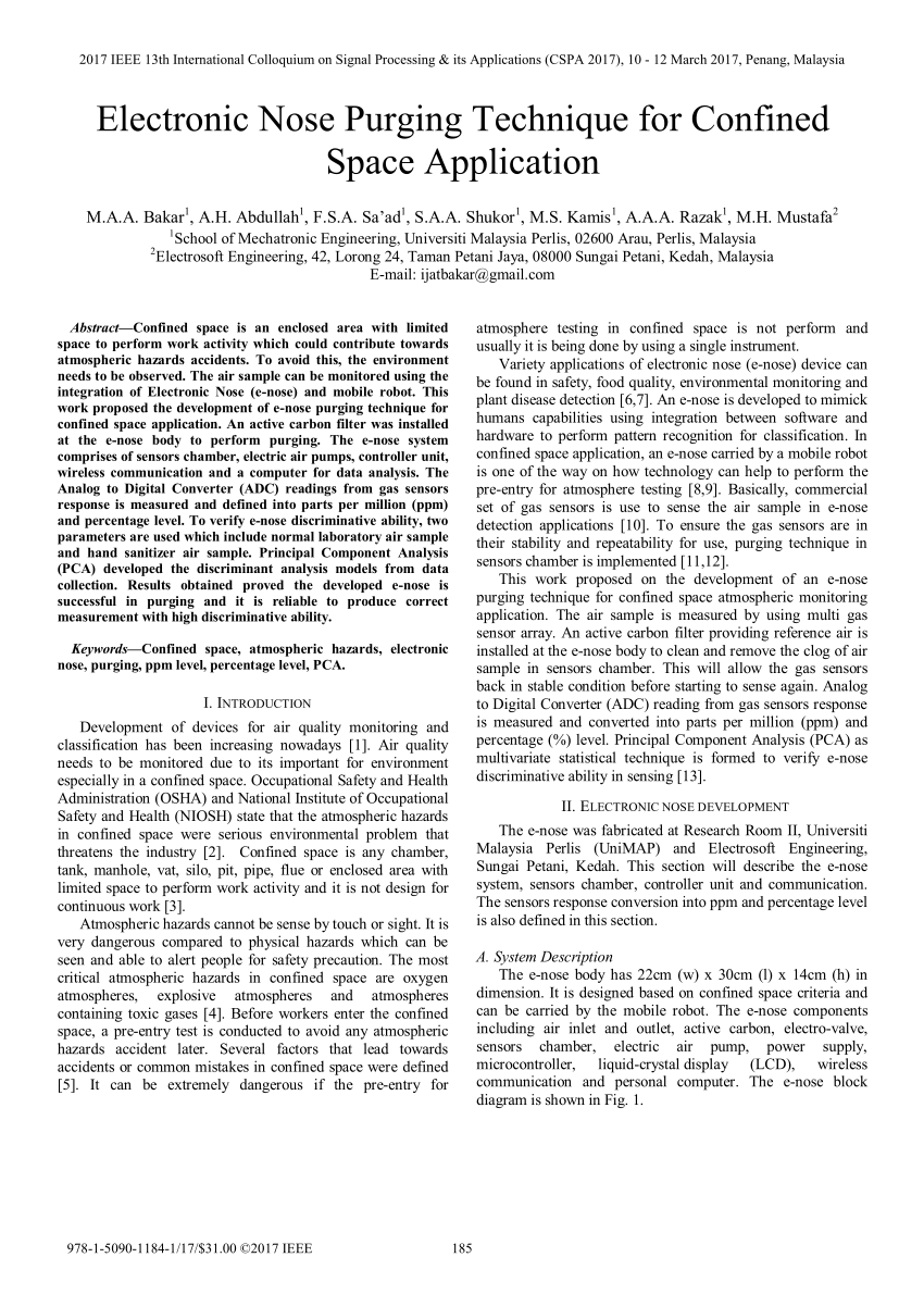 hight resolution of  pdf electronic nose purging technique for confined space application