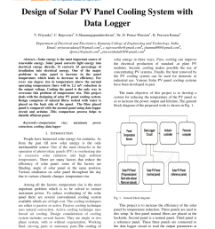 pdf design of solar pv panel cooling system with data logger [ 850 x 1203 Pixel ]