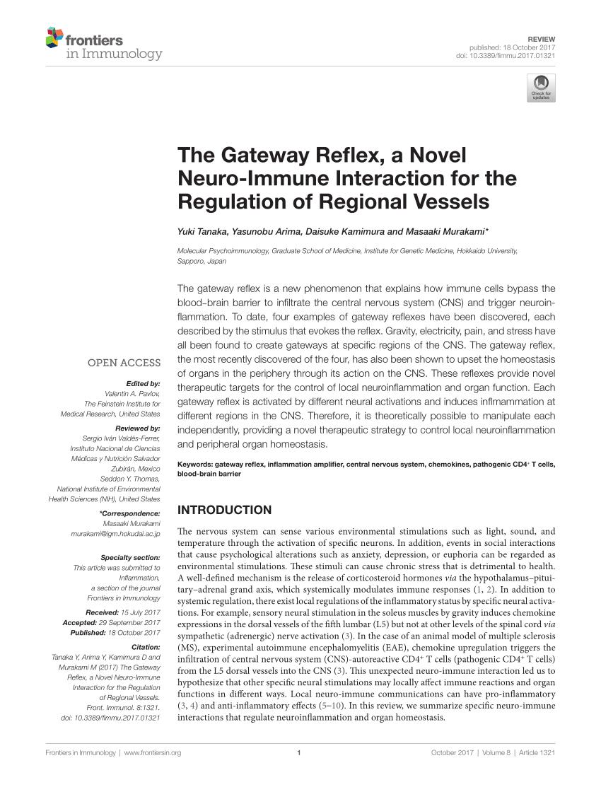 Arti Received At Origin Gateway : received, origin, gateway, Gateway, Reflex,, Novel, Neuro-Immune, Interaction, Regulation, Regional, Vessels