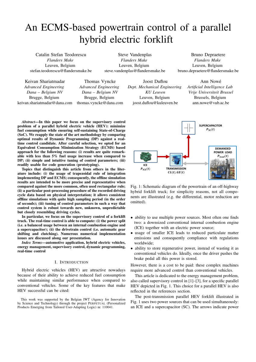 medium resolution of  pdf an ecms based powertrain control of a parallel hybrid electric forklift