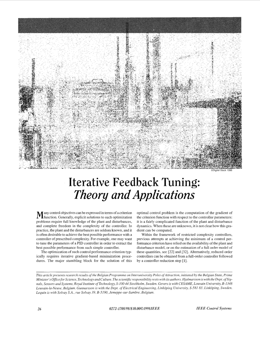 (PDF) Iterative Feedback Tuning: Theory and Applications