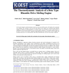 pdf the thermodynamic analysis of a beta type rhombic drive stirling engine [ 850 x 1203 Pixel ]