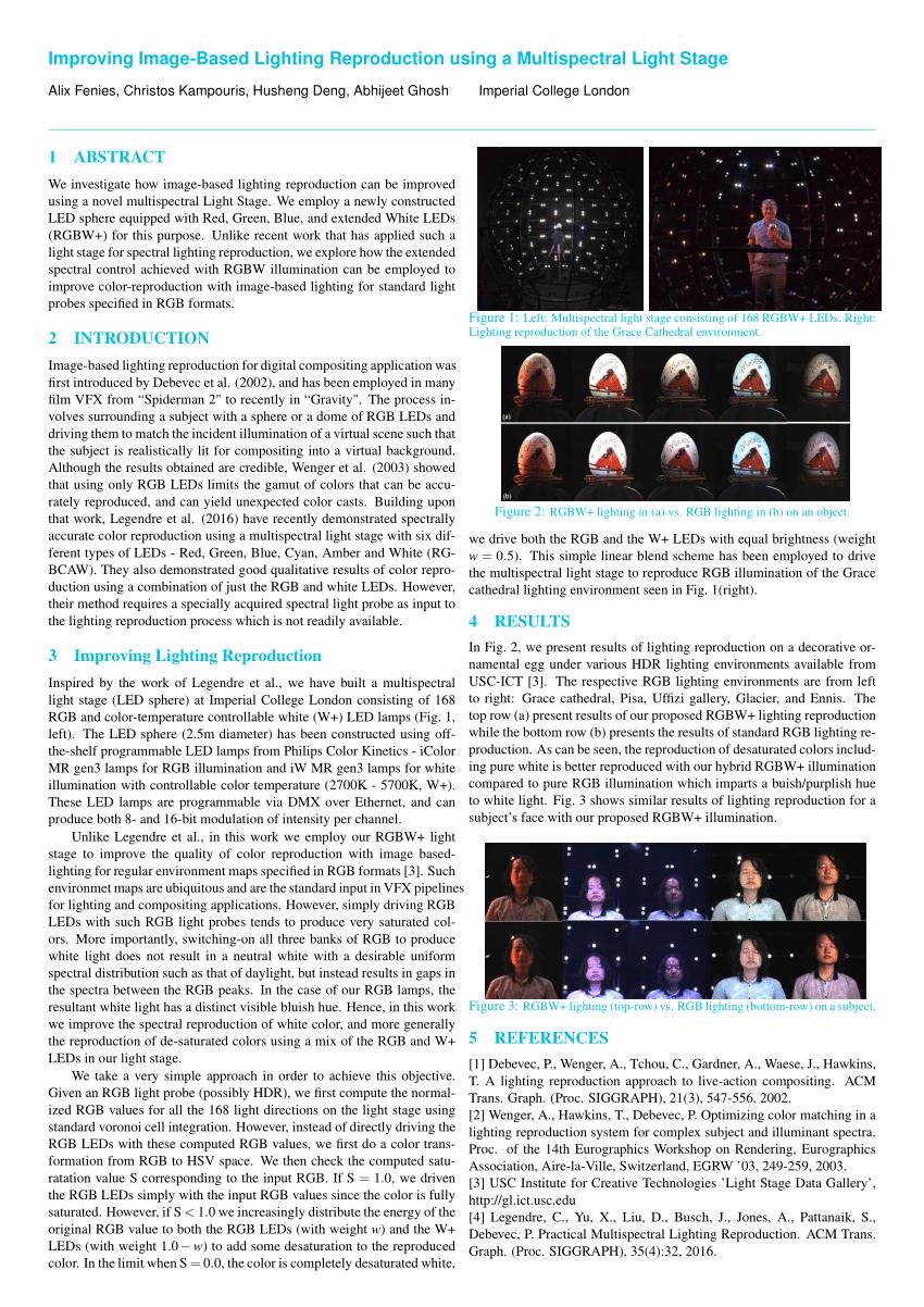 pdf improving image based lighting