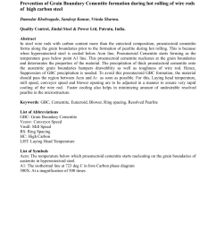 pdf prevention of grain boundary cementite formation during hot rolling of wire rods of [ 850 x 1100 Pixel ]