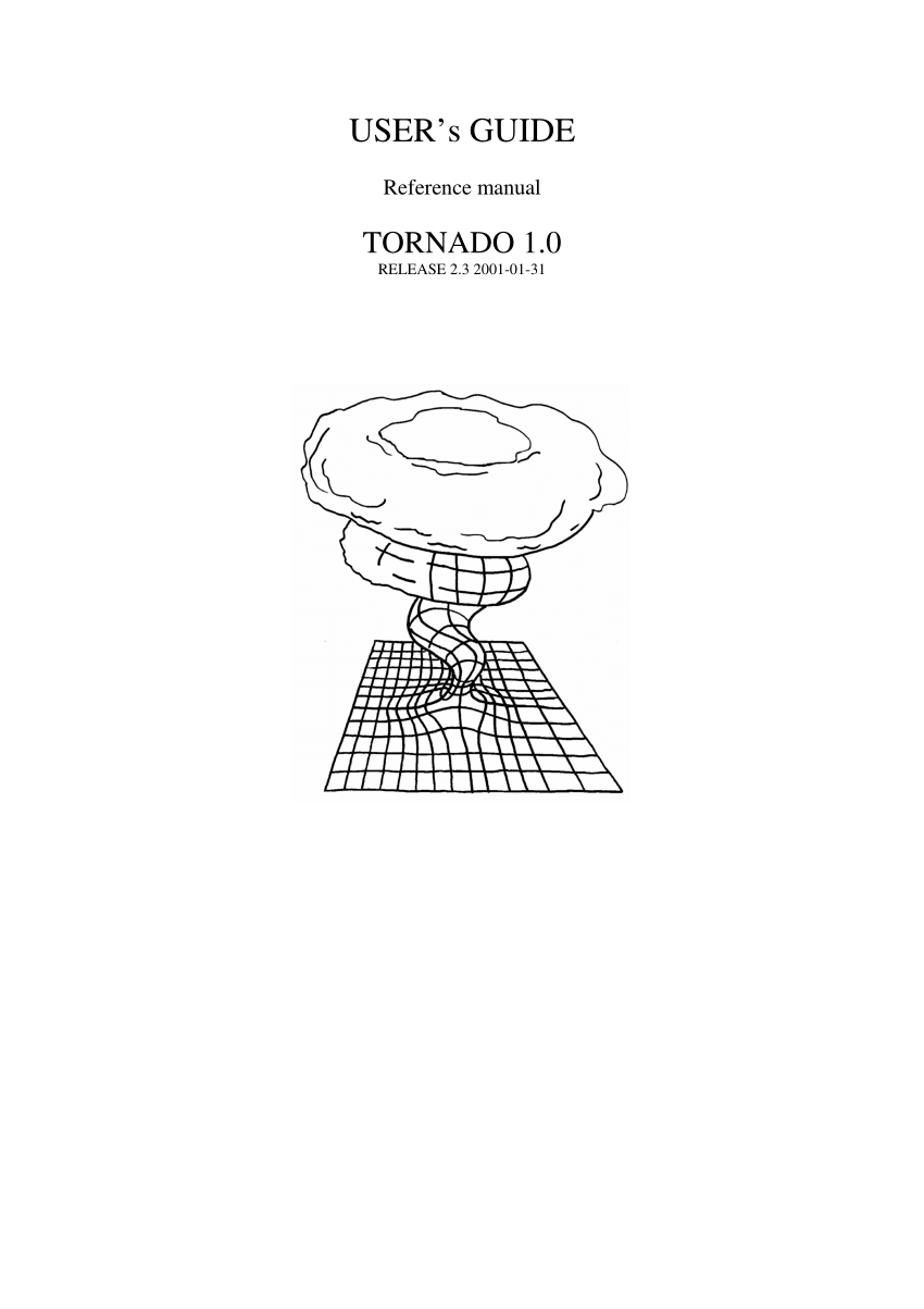 (PDF) Tornado 1.0 USER's GUIDE Reference manual