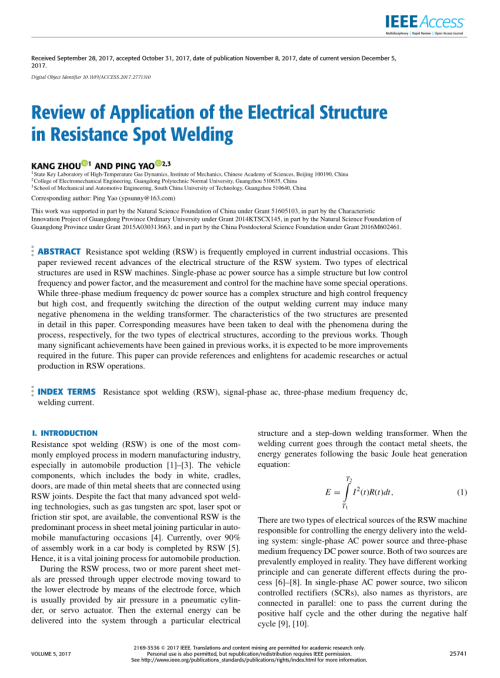 small resolution of  pdf review of application of the electrical structure in resistance spot welding