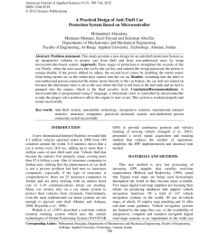 pdf a practical design of anti theft car protection system based on microcontroller [ 850 x 1100 Pixel ]