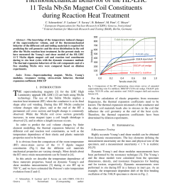 pdf thermomechanical behavior of the hl lhc 11 tesla nb3sn magnet coil constituents during reaction heat treatment [ 850 x 1100 Pixel ]