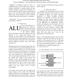 pdf mounting the outline of arithmetic logic unit using the radical gates [ 850 x 1202 Pixel ]