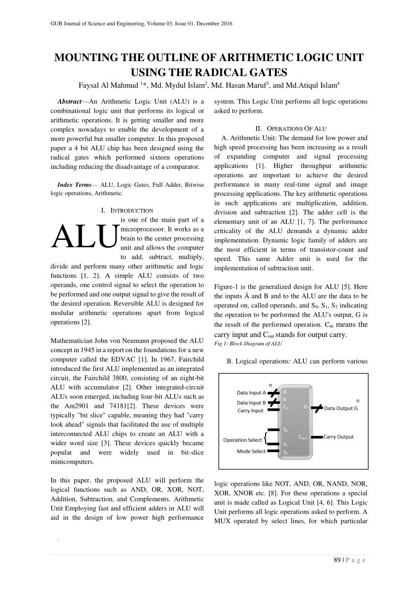 medium resolution of  pdf mounting the outline of arithmetic logic unit using the radical gates