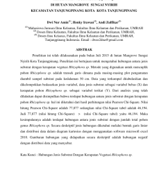 pdf hubungan jenis substrat dengan kerapatan vegetasi rhizophora sp di hutan mangrove sungai nyirih kecamatan tanjungpinang kota kota tanjungpinang dwi [ 850 x 1202 Pixel ]