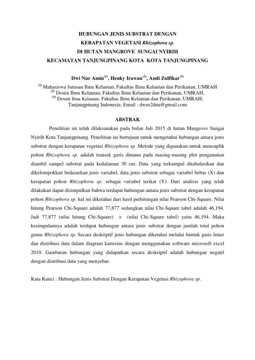 small resolution of  pdf hubungan jenis substrat dengan kerapatan vegetasi rhizophora sp di hutan mangrove sungai nyirih kecamatan tanjungpinang kota kota tanjungpinang dwi