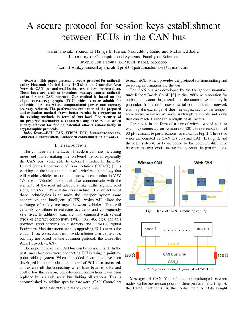 hight resolution of  pdf a secure protocol for session keys establishment between ecus in the can bus