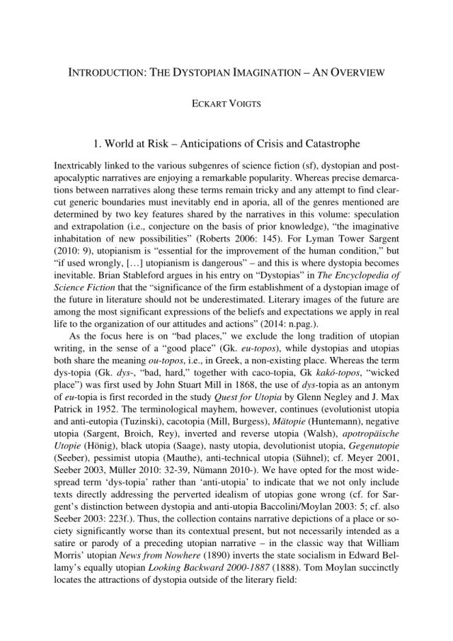 PDF) Dystopia, Science Fiction, Post-Apocalypse