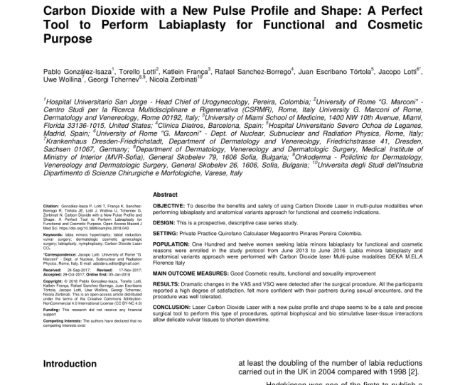 Pdf Carbon Dioxide With A New Pulse Profile And Shape A Perfect Tool To Perform Labiaplasty For Functional And Cosmetic Purpose