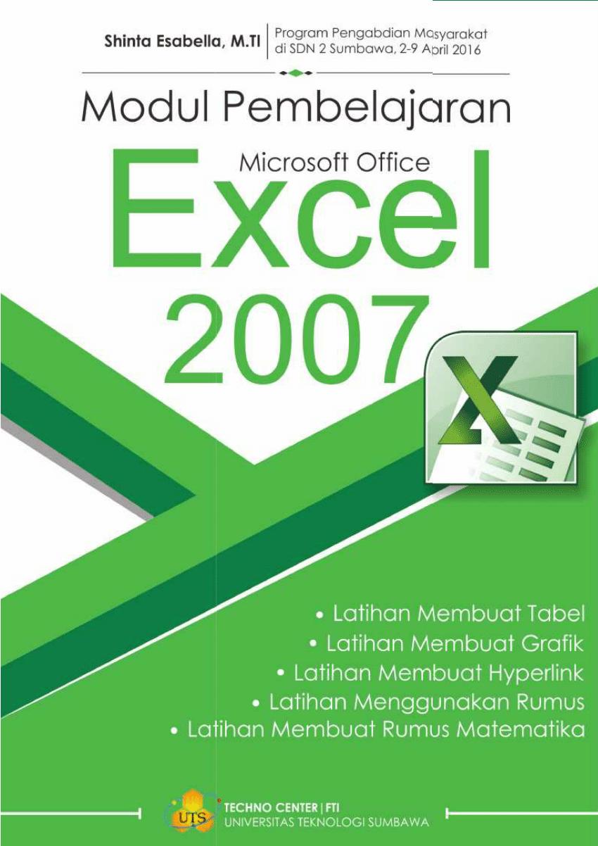 Belajar Excel Pdf : belajar, excel, Belajar, Microsoft, Excell