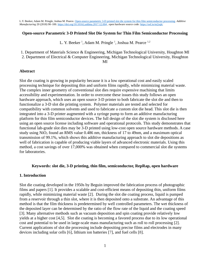 medium resolution of  pdf a low cost open source metal 3 d printer
