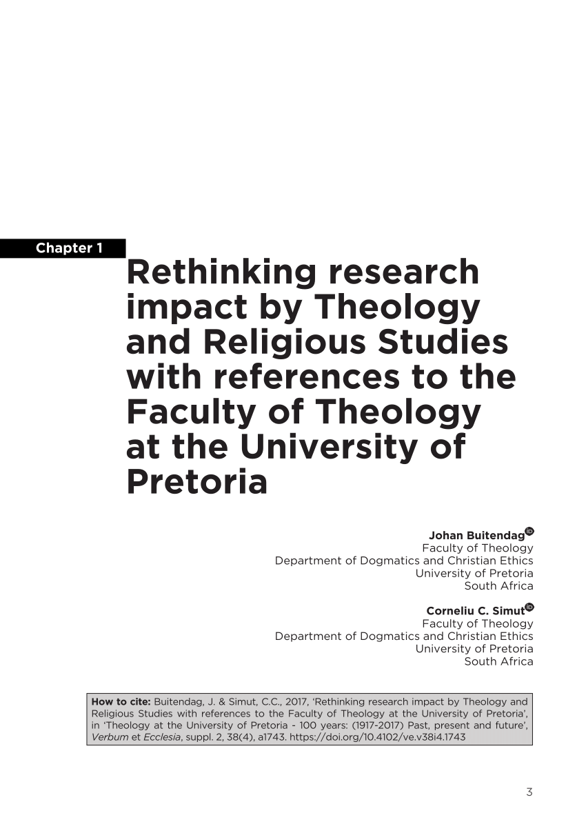 (PDF) Rethinking research impact by Theology and Religious