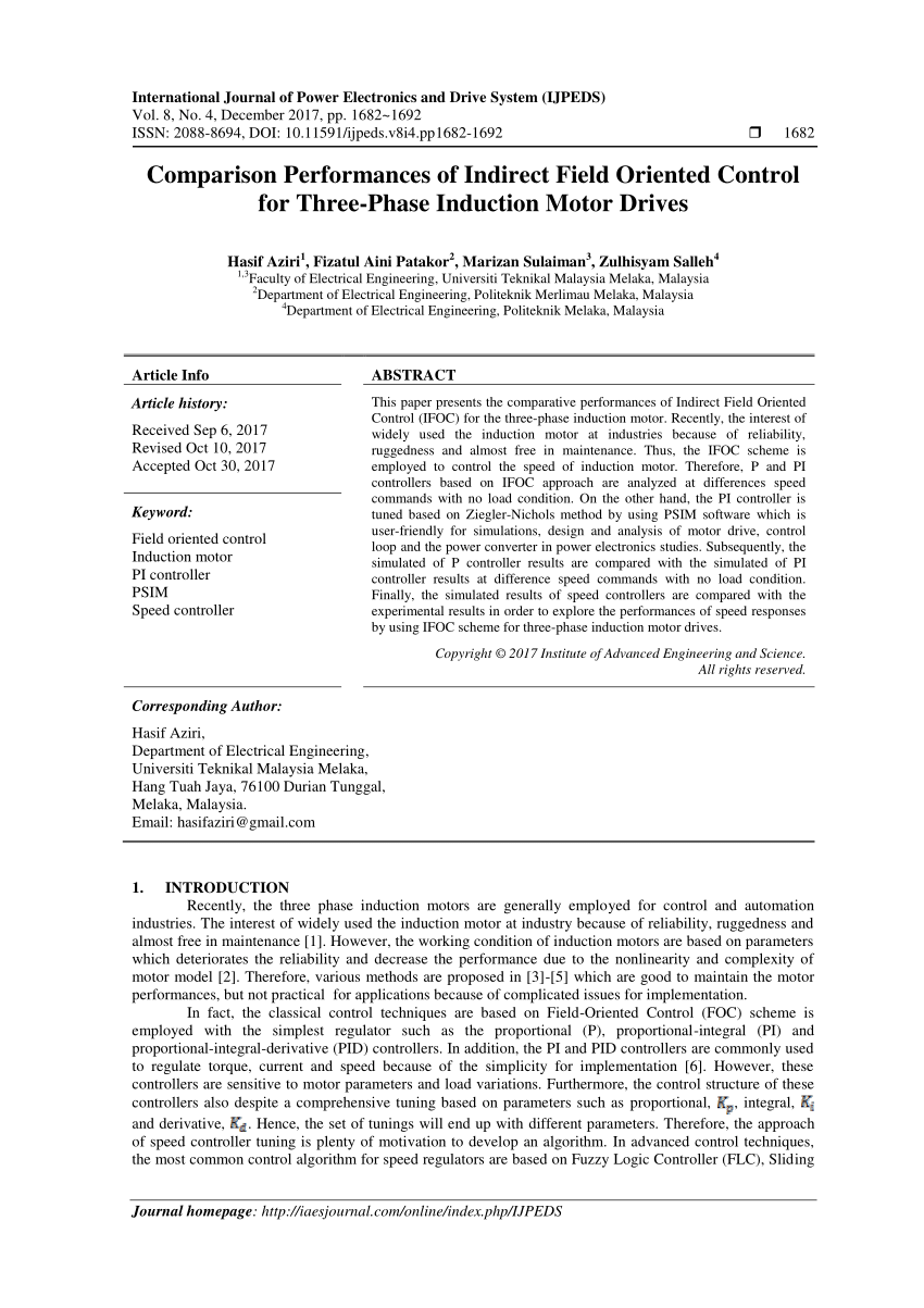 medium resolution of  pdf comparison performances of indirect field oriented control for three phase induction motor drives