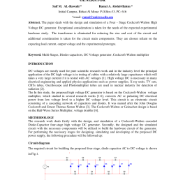 pdf design and simulation of a high voltage dc hvdc generator [ 850 x 1202 Pixel ]