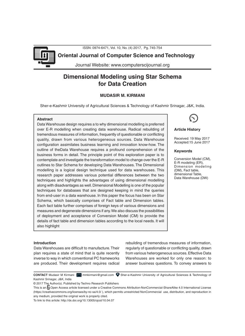 medium resolution of  pdf dimensional modeling using star schema for data warehouse creation