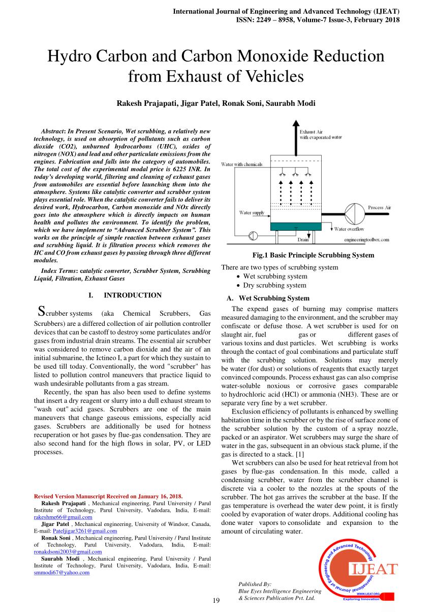 pdf hydro carbon and carbon monoxide