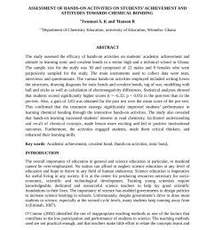 PDF) Assessment of Hands-on Activities on Students' Achievement and  Attitudes towards Chemical Bonding [ 1100 x 850 Pixel ]